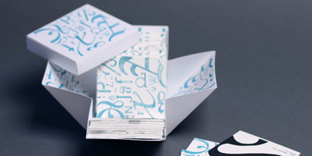 Typographic Matching Cards